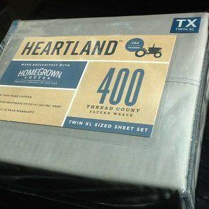 SILVER Heartland 400 TC Sateen TWIN XL Sheet Set